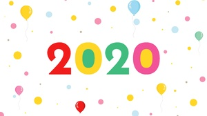 Balloon New Year 2020 7680x4769 Wallpaper