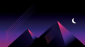 Retrowave Vaporwave Synthwave Moon Pyramid 3300x1856 Wallpaper