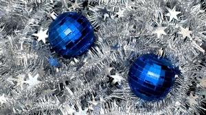 Decoration Silver Stars Bauble Blue 1920x1280 wallpaper