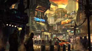 Futuristic Science Fiction Digital Art Concept Art Artwork Fantasy Art Fan Art 3D CGi Cyberpunk Cybe 4000x2250 Wallpaper