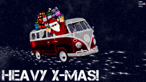 Gift Merry Christmas Santa Space Volkswagen T1 1920x1080 Wallpaper