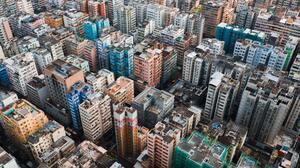 Hong Kong Aerial View Building 4853x3640 Wallpaper