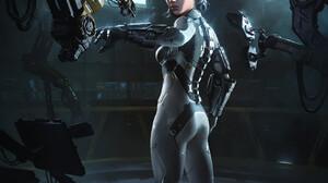 Cristian Alberto Vasquez Science Fiction Digital Art Science Fiction Women Artwork Cyborg 1920x2400 Wallpaper