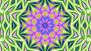 Colorful Digital Art Geometry Green Kaleidoscope Shapes 1920x1080 Wallpaper