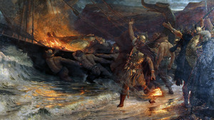 The Funeral Of A Viking Frank Bernard Dicksee Vikings Viking History Nordic Classic Art Ship Paintin 2500x1530 Wallpaper
