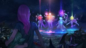 Ahri League Of Legends Ezreal League Of Legends Lulu League Of Legends Lux League Of Legends Miss Fo 2666x1500 Wallpaper