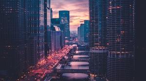 Building Chicago City Skyscraper Usa 2560x1440 Wallpaper