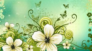 Vector Floral Digital Art 1920x1080 Wallpaper