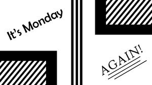Abstract Stripes Digital Art Black Amp White Lines Monday 1920x1080 Wallpaper