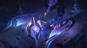 Skarner League Of Legends Riot Games Sting Cosmic Break Space Galaxy Stars 7680x4320 Wallpaper