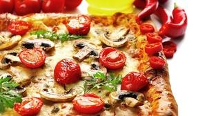 Mushroom Pizza Still Life Tomato 2048x1342 Wallpaper