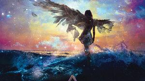 Angel Fantasy Landscape 1920x1280 Wallpaper