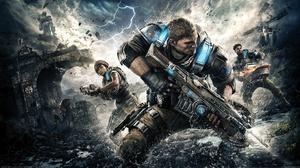 War Lightning Fighting Gears Of War 5 3840x2160 Wallpaper