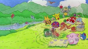 Arbok Pokemon Bulbasaur Pokemon Chansey Pokemon Dugtrio Pokemon Elekid Pokemon Kingler Pokemon Macha 1916x1036 Wallpaper