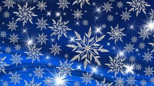 Blue Snowflake 3340x2160 Wallpaper