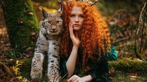 Curl Girl Lynx Mood Nature Redhead 2000x1334 Wallpaper