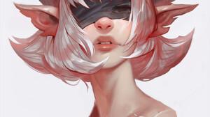 Dave Greco ArtStation Artwork Women Fantasy Art Fantasy Girl Simple Background White Background Horn 1637x2000 Wallpaper