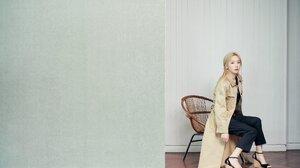 SNSD Taeyeon Kim Taeyeon Girls Generation Asian K Pop Wedge Heels Trench Coat 2021x1347 wallpaper