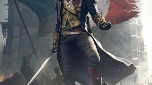 Assassins Creed Assassins Creed Unity Video Game Art Video Games Flag 4242x6000 Wallpaper