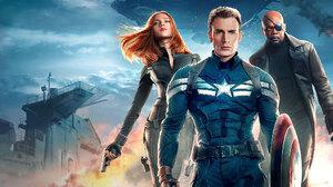Black Widow Captain America Captain America The Winter Soldier Chris Evans Nick Fury Samuel L Jackso 2048x1152 Wallpaper