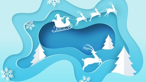 Christmas Sleigh Snowflake Winter 6901x5175 Wallpaper
