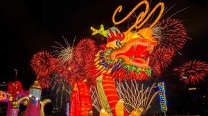 Dragon Fireworks 2048x1365 Wallpaper