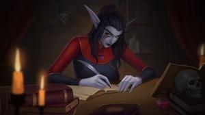World Of Warcraft Elf Ears Night Elves 2560x1440 Wallpaper