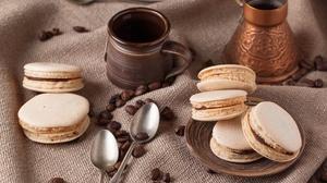 Coffee Beans Macaron Still Life 4752x3168 Wallpaper
