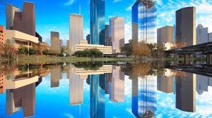 City Reflection Texas 2560x1600 Wallpaper