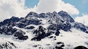 Mountain Nature Snow 1920x1080 wallpaper