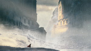 Building Landscape Snowfall 3840x2106 Wallpaper