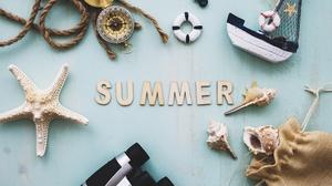Shell Starfish Summer 4761x3174 Wallpaper