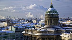 Building City Dome Russia Saint Petersburg Winter 2560x1707 Wallpaper