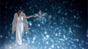 Wings Snowflake 3840x2160 Wallpaper