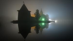 Architecture Castle Night Lights Mist Water Reflection Roman Dmitriev Morning 35PHOTO Trees 1600x1065 Wallpaper