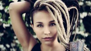 Women Brunette Dreadlocks Portrait Face Blonde Piercing Tattoo 2048x1365 Wallpaper