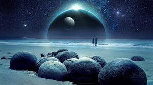 Ocean Planet Rock 3840x2160 Wallpaper