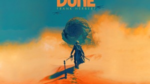 Pascal Blanche Dune Movie Dune Series Artwork Science Fiction Desert Giant Digital Art Poster 3000x2000 Wallpaper