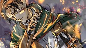 Attack On Titan Blue Eyes Brown Hair Levi Ackerman Weapon 2048x1752 Wallpaper