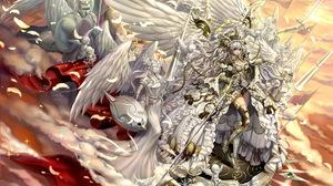 Angel White Hair Blue Eyes 5721x4000 Wallpaper