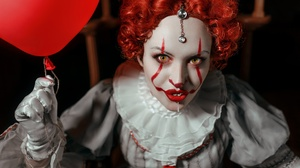 Clown Girl Lipstick Pennywise It Red Hair 2560x1709 Wallpaper
