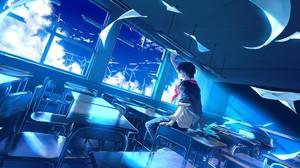 Azul Anime Anime Boys 2400x1262 wallpaper
