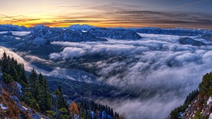 Austria Cloud Horizon Landscape Mountain Nature Panorama 4200x2000 Wallpaper