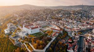Aerial View Bratislava Castle Slovakia 5403x3039 Wallpaper