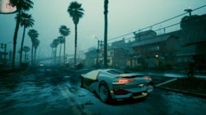 Cyberpunk 2077 Screen Shot Car Rain Evening 1920x1080 Wallpaper