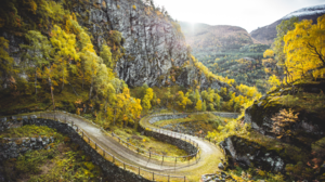 Nature Landscape Trees Rocks Grass Mountains Sunlight Forest Road Hairpin Turns Norway 1920x1080 Wallpaper