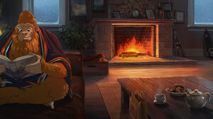 Travel Oregon Studio Ghibli Hayao Miyazaki Yeti Sasquatch Squatch Digital Painting Landscape Vacatio 3038x1093 Wallpaper
