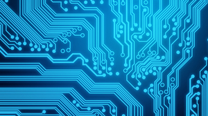 Abstract 3D Abstract Circuit Boards Blue 5120x2880 wallpaper