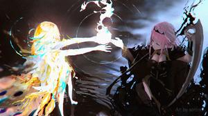 Virtual Youtuber Mori Calliope Takanashi Kiara Hololive Anime Girls Sorrowny 3840x2160 Wallpaper