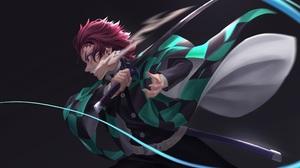 Tanjiro Kamado Anime Sword Redhead Kimetsu No Yaiba Demon Slayer Kimetsu No Yaiba 3840x2160 Wallpaper